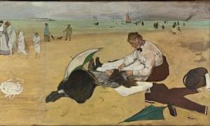 Edgar Degas Beach Scene