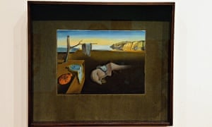 Salvador Dali The Persistence of Memory in frame MOMA