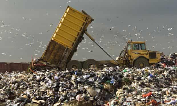 Landfill site in Mucking, Essex