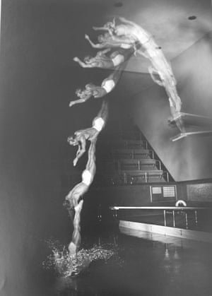 Pete Desjardin Diving, 1940.