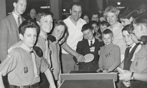 Table Tennis Champion Johnny Leach