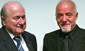 Sepp Blatter and Paulo Coelho