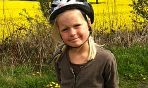 Child beside bike - cycling guide page 64