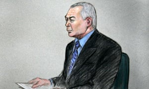 A courtroom sketch of Wang Yam … the defence case at his murder trial was held entirely in secret.