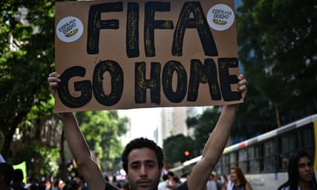 Anti-World Cup protests in Brazilian cities mark countdown to kick-off