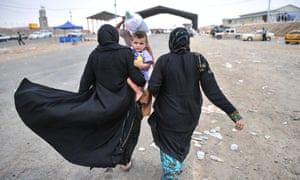 Civilians escape from Mosul and come to a region that close to Erbil city and are placed to camp by United Nations and Kurd government in Iraq on 12 June, 2014.