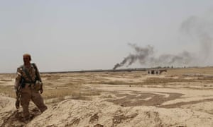 Kurdish Peshmerga forces and Iraqi special forces deploy their troops outside of the oil-rich city of Kirkuk, Iraq  isis