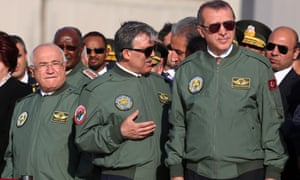 Turkish President Abdullah Gul, center, Prime Minister Recep Tayyip Erdogan, right, and Parliament Speaker Cemil Cicek.
