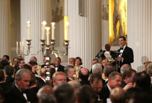 Chancellor of the Exchequer, George Osborne, speaks at the 'Lord Mayor's Dinner to the Bankers and Merchants of the City of London' at the Mansion House on June 12, 2014 in London, England.