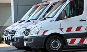 Ambulances outside an ED in Melbourne