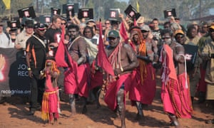 Yolngu dancers at the Journey to Recognition at Garma Festival
