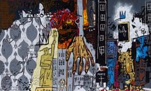 Gordon Bennett's 2011 work Notes to Basquiat (911)