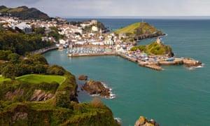 View over Ilfracombe, Devon, England, United Kingdom, Europe
