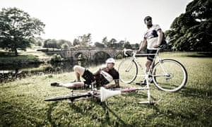 Two cyclists having a rest - cycling guide page 95