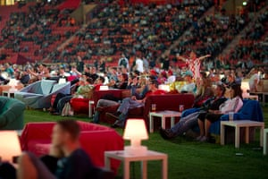 Sofa football: Croatian fan