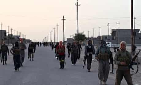Image from jihadist website Wilayat Salahuddin allegedly shows militants on streets of Samarra, Iraq