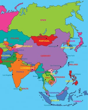 Michael Craig Martin's Globalisation, 2011, in Mapping It Out: An alternative atlas of contemporary cartographies