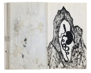 Anish Kapoor's pages from his 1991 sketchbook mapped the unmappable, in Mapping It Out: An alternative atlas of contemporary cartographies