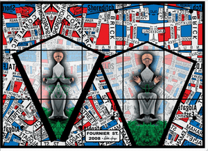 Gilbert & George's Fournier St, 2008 in Mapping It Out: An alternative atlas of contemporary cartographies
