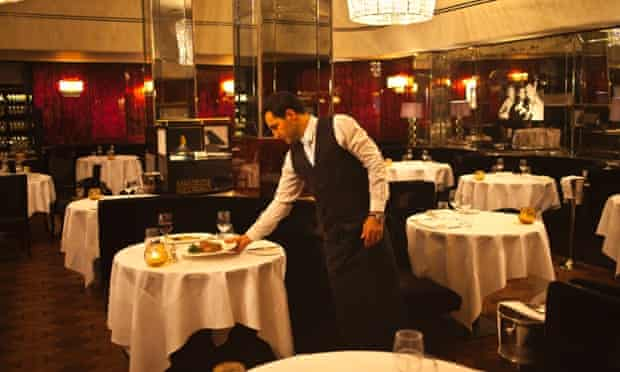 The dining area of the Savoy Grill, one of the restaurants bookable via Priceline's OpenTable.
