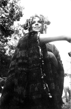 Dennis Hopper Shots: Dennis Hopper Photography Untitled (Girl in Cape & Headdress), 1967