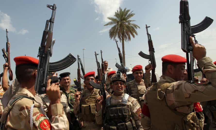 Iraqi army in Baghdad Isis