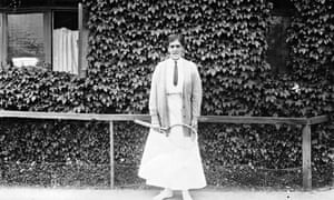 Dorothea Lambert Chambers, British tennis player, at Wimbledon July 1913