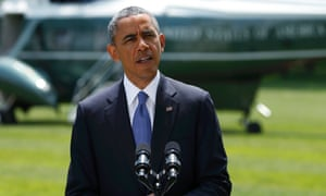 President Barack Obama delivered a statement on the situation in Iraq from the White House lawn.