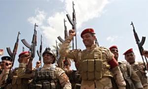 Iraqi army troops in Baghdad