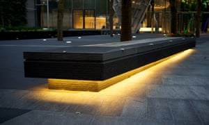 Anti-skateboarding devices at the 201 Bishopsgate/Broadgate Tower.