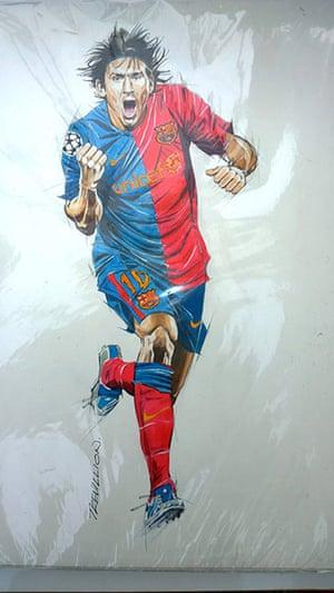 Trevillion exhibition: Messi