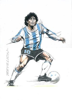 Trevillion exhibition: Maradona