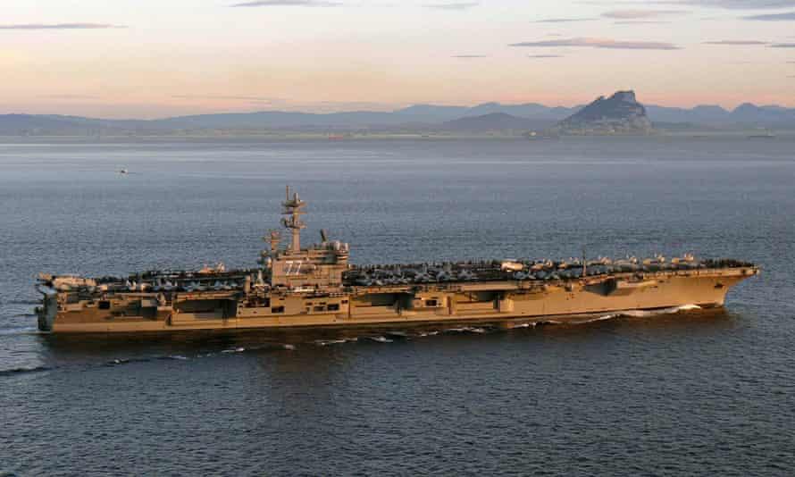 aircraft carrier USS George HW Bush