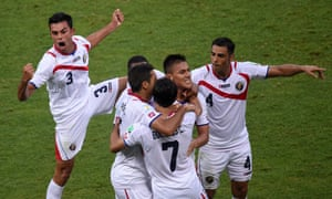 Costa Rica celebrate taking a remarkable lead.