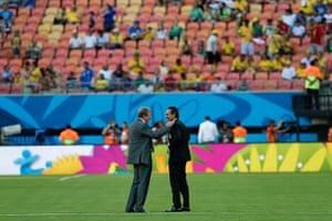 England v Italy: Roy Hodgson and Cesare Prandelli
