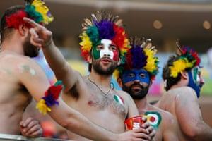 England v Italy: Italy fans