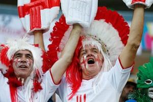 England versus Italy: England fans