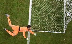England versus Italy: Italy's goalkeeper Salvatore Sirigu