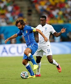 England versus Italy: Andrea Pirlo