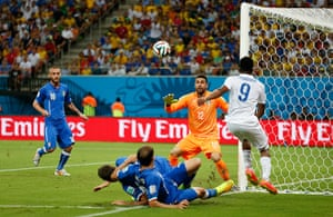 England versus Italy: Sturridge causes chaos in the Italian box