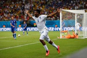 England versus Italy: Sturridge celebrates
