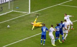 England versus Italy:  Joe Hart