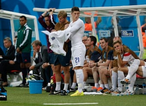England versus Italy: Ross Barkley comes on as a sub