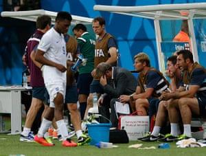 England versus Italy: Roy Hodgson looks despondent