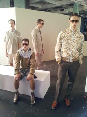 Jonathan Saunders.  London Men's Fashion Week SS15, 15th June 2014 lcmplog