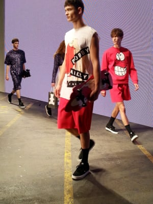 MAN - Bobby Abley . (nb there are 3 collections in MAN) London Men's Fashion Week SS15, 15th June 2014 lcmplog