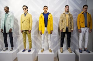 LONDON, ENGLAND - JUNE 15:  Models pose on the runway during the Hardy Amies London presentation at the London Collections: Men SS15 on June 15, 2014 in London, England.  (Photo by Tristan Fewings/Getty Images) Catwalk Celebrities Fashion Spring Summer Spring Summer Collection