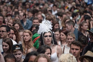 Strasbourg, France: The Gay Pride parade makes its way through the city.