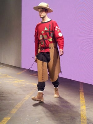 Liam Hodges. Wearing CORK chaps. London Men's Fashion Week SS15, 15th June 2014 lcmplog