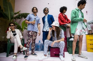 LONDON, ENGLAND - JUNE 15:  Models pose on the runway during the Hentsch Man presentation at the London Collections: Men SS15 on June 15, 2014 in London, England.  (Photo by Tristan Fewings/Getty Images) Catwalk Celebrities Fashion Spring Summer Spring Summer Collection